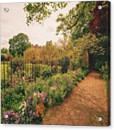 England - Country Garden And Flowers Acrylic Print