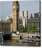 England, London, Big Ben And Thames River Acrylic Print