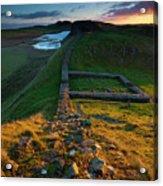 England, Northumberland, Hadrians Wall Acrylic Print