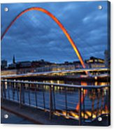 England, Tyne And Wear, Gateshead Millennium Bridge. Acrylic Print