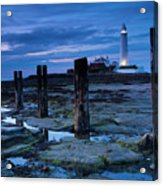 England, Tyne And Wear, St Marys Lighthouse Acrylic Print