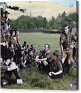English Boy Scouts On A Hike Stop Acrylic Print