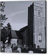English Churchyard Acrylic Print