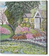 English Cottage Acrylic Print