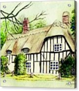 English Cottage In Cambridgshire Acrylic Print