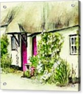 English Country Cottage Series Acrylic Print