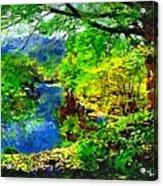 English Country Lake 1d Acrylic Print