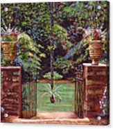 English Garden Elegance Acrylic Print