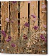 English Garden In Pastels Acrylic Print