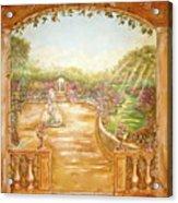 English Garden View Acrylic Print