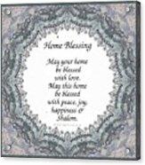 English Home Blessing Acrylic Print
