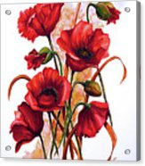 English Poppies 2 Acrylic Print