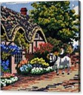 English Tapestry Acrylic Print