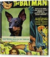 English Toy Terrier Art Canvas Print - Batman Movie Poster Acrylic Print