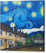 English Village In Van Gogh Style Acrylic Print