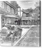 Englishtown New Jersey Classic Car Acrylic Print