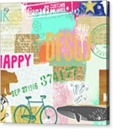 Enjoy Every Moment Collage Acrylic Print