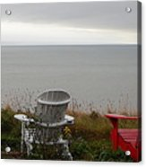 Red, White And View Acrylic Print