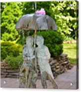 Enjoying Rain Showers Acrylic Print