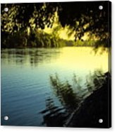 Enjoying The Scenic Beauty Of The Sacramento River Acrylic Print
