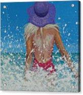 Enjoying The Sea Acrylic Print