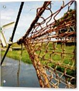 Enkhuizen Windmill And Nets Acrylic Print