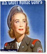 Enlist In A Proud Profession - Join The Us Cadet Nurse Corps Acrylic Print
