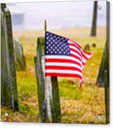 Enriched American Flag - Remember Acrylic Print