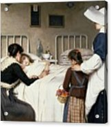 Enrique Paternina Garcia Cid - Mother Visit To The Hospital 1892 Acrylic Print