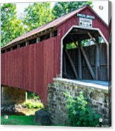 Enslow/turkey Tail Covered Bridge Acrylic Print
