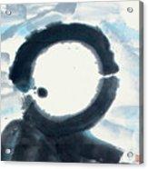 Quietude - Enso Moon Rising Above The Mountain Acrylic Print