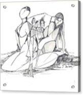 Entangled Women Acrylic Print