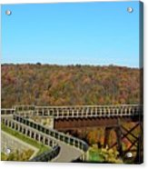Enter The Kinzua Skywalk Acrylic Print
