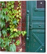 Enter Vine Door Acrylic Print
