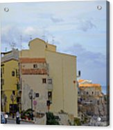 Entering Cefalu In Sicily Acrylic Print