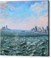 Entering In New York Harbor Acrylic Print