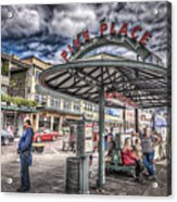 Entering Pike Place Acrylic Print