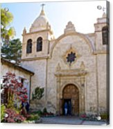 Entering The Church Sanctuary At Carmel Mission-california  Acrylic Print