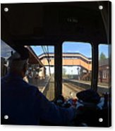 Entering The Station Acrylic Print