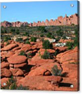 Entrada Sandstone Formations - Arches National Park Acrylic Print