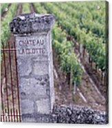Entrance Of A Vineyard, Chateau La Acrylic Print