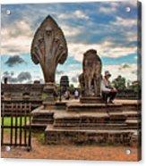 Entrance To Angkor Wat  Acrylic Print