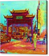 Entrance To Chinatown Acrylic Print