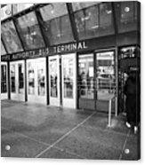entrance to Port Authority bus terminal New York City USA Acrylic Print