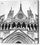 Entrance To Royal Courts Of Justice London Acrylic Print