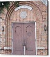 Entrance To Temple Acrylic Print