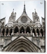 Entrance To The Royal Courts London Acrylic Print