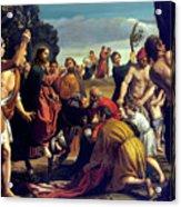 Entry Into Jerusalem Acrylic Print by After Pedro Orrente