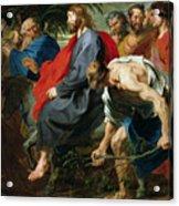 Entry Of Christ Into Jerusalem Acrylic Print