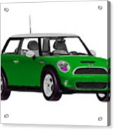 Envy Green Mini Cooper Acrylic Print